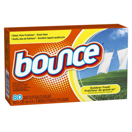 Bounce Fabric Softener Sheets, Outdoor Fresh Scent, 80 Sheets