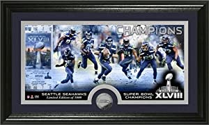 Seattle Seahawks Super Bowl 48 Champions Minted Coin Panoramic Photo Mint by Hall of Fame Memorabilia