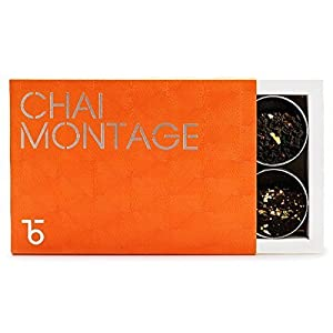 Teabox - Chai Montage - Collection of 6 Indian Chai Blends, Tea Gift Box, Gift for Tea Lovers, Indian Tea, Chai Tea (150 grams,5.3 oz)