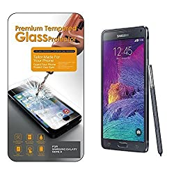 SAMSUNG GALAXY NOTE 4 Real Tempered Glass Screen Protector Rounded Edge, SM-N910 , Shatterproof , High Definition Clarity[ZIGGY PRO]