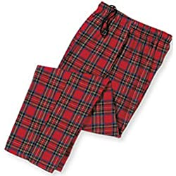 Cozy plaid 100% cotton flannel lounge pants
