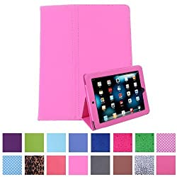 HDE Leather Folio Case and Stand with Magnetic Cover for 1st Generation iPad (Pink)