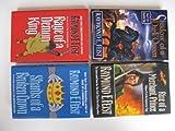 img - for Raymond E. Feist 4 Book Set (Complete Serpentwar Saga:, Rise of a Merchant Prince, Shards of a Broken Crown, Rage of a Demon King, Shadow of a Dark Queen) book / textbook / text book