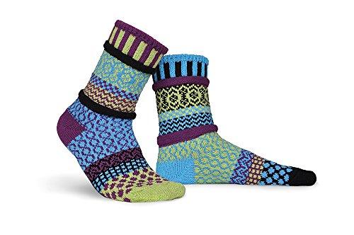 Solmate calzini-Odd o Mismatched calzini per donna o da uomo, in cotone riciclato realizzato con fili in USA Equinox X-Large