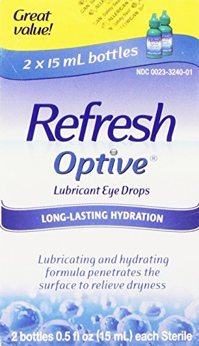 Refresh Optive Lubricant Eye Drops, Box of 2 x 15 ml bottles (Refresh Optive Preservative Free compare prices)