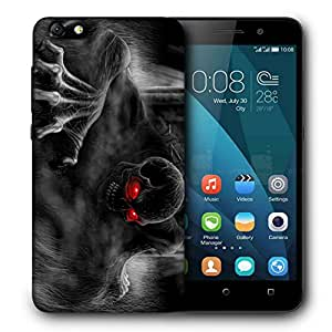Snoogg Black Ghost Designer Protective Back Case Cover For HUAWEI 4X
