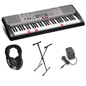 Casio LK-230 Personal Keyboard Premium Package with 61 Keys, Headphones, Stand & Power Supply