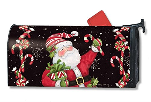 MailWraps Candy Cane Santa Mailbox Cover #01237