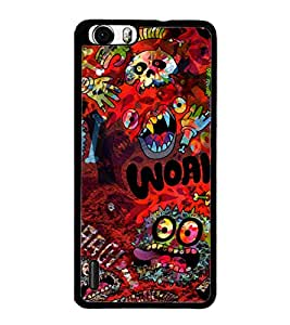 PrintDhaba Graffiti D-3844 Back Case Cover for HUAWEI HONOR 6 (Multi-Coloured)