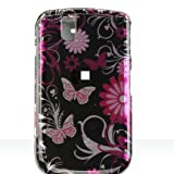 Dream Wireless CABB9630PKBF Slim and Stylish Design Case for the Blackberry 9630/Tour - Retail Packaging - Pink Butterfly