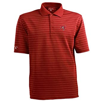 NFL Mens Tampa Bay Buccaneers Elevate Desert Dry Polo Shirt by Antigua