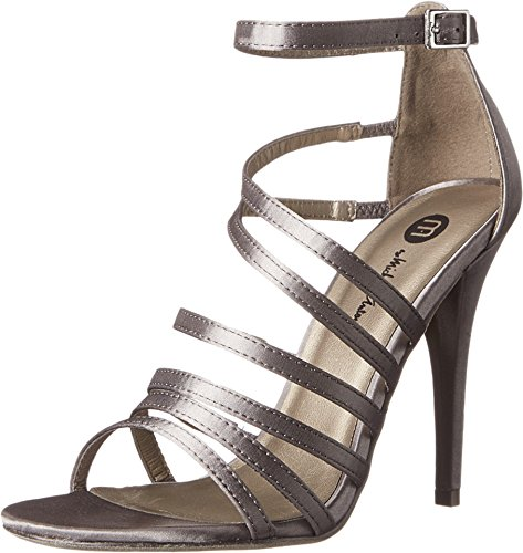 Michael Antonio Women's Eve Sat Dress Sandal, Pewter, 7.5