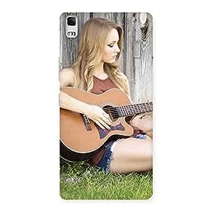 Gorgeous Guitar Girl Multicolor Back Case Cover for Lenovo K3 Note