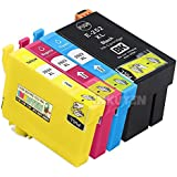 4 Pack Epson 252 XL High Yield Compatible Ink Cartridges (T252XL120 T252XL220 T252XL320 T252XL420) for WorkForce WF-3630 WF-3640 WF-7110 WF-7610 WF-7620