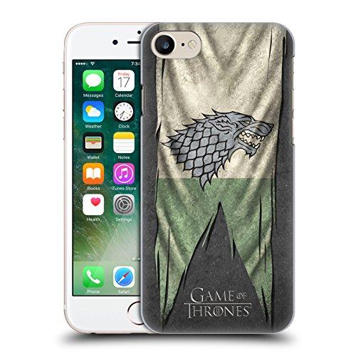 Ufficiale HBO Game Of Thrones Stark Bandiere Sigilli Cover Retro Rigida per Apple iPhone 7