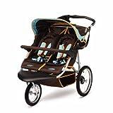 InStep Safari Swivel Double Jogging Stroller (Blue/Chocolate)