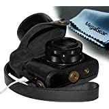 """MegaGear """"Ever Ready"""" Protective Leather Camera Case, Bag for Case for Canon PowerShot G1X Mark II Digital Camera (Black)"""
