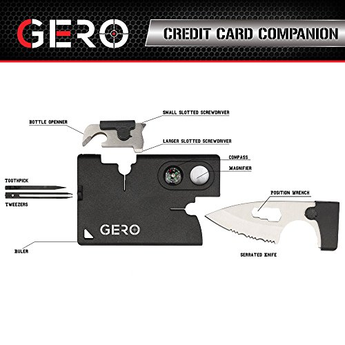 06. Multi-Purpose Credit Card Tool 10 in 1 - Best Quality Pocket Tool - Durable Credit Card Companion