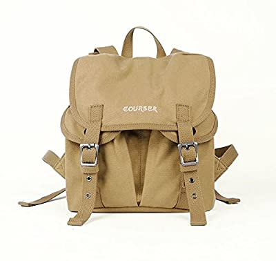 vintage waterproof canvas casual pocket camera backpack bag for DSLR EVIL DC Camera Khaki Yellow Color