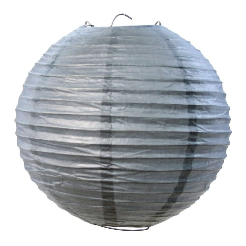 Koyal Wholesale Paper Lantern, 10-Inch, Gray, Set Of 6 front-74318