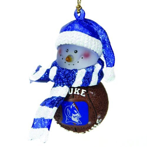 Duke Blue Devils Striped Snowman Basketball Christmas Ornament at Amazon.com