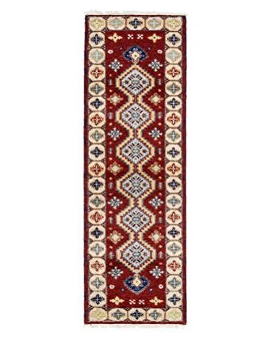 Darya Rugs Kazak Oriental Rug, Red, 2′ 1″ x 6′ 8″ Runner