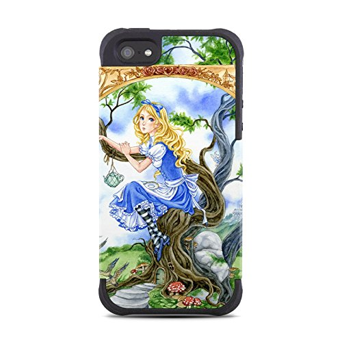 Alice'S Tea Time Design Silicone Snap On Bumper Case For Apple Iphone 5 / 5S Cell Phone