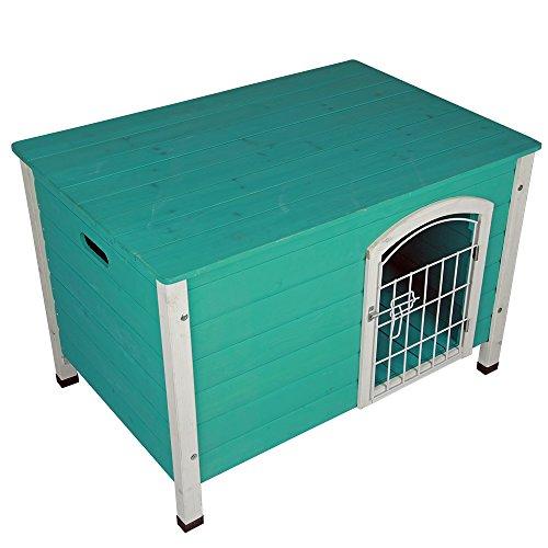 Petsfit 31 Lx21 Wx21 H Indoor Dog House Wooden With Door
