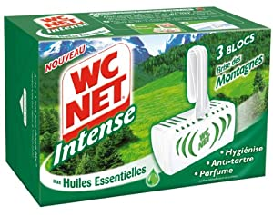 WC Net - M78749 - Intense Blocs aux Huiles Essentielles - Brise des Montagnes - 3 x 34 g