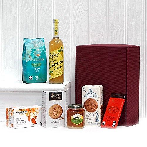 Organic hampers duchy originals chocolate food wine gift