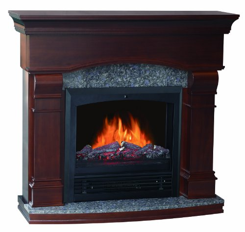 Quality Craft Mm480Pg-47Cw Electric Fireplace Heater With 750 -1500-Watt Adjustable Temperature Control Remote Control And 47-Inch Mantel, Walnut Color