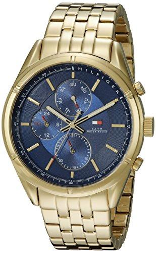 Tommy Hilfiger da uomo 1791129 Sport Lux ingressi Display oro al quarzo orologio da