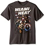 Marvel Boys' NBA Miami Heat and Marvel Avengers Heat-Up T-Shirt