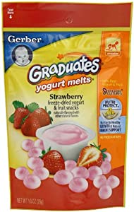 Gerber Graduates Yogurt Melts, Strawberry, 1 Ounce