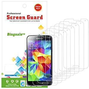 Bingsale Pack de 8 Films de Protection d'écran pour Samsung Galaxy S5
