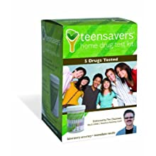 TeenSavers Home Drug Test Kit for 5 Drugs of Abuse - Parental Support Guide, 24/7 Support, and Free Lab Confirmation