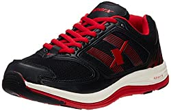 Sparx Mens Black and Red Mesh Running Shoes - 9 UK (SX0196G)