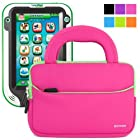 Evecase UltraPortable Handle Carrying Portfolio Neoprene Sleeve Case Bag for LeapPad Ultra/ Ultra XDI Kids (2014) Tablet - 7-inch Educational Kids Tablet / Kid-tough Toys - Hot Pink