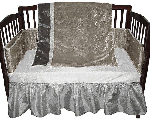 Baby Doll Crocodile Crib Bedding Set, Chardonnay