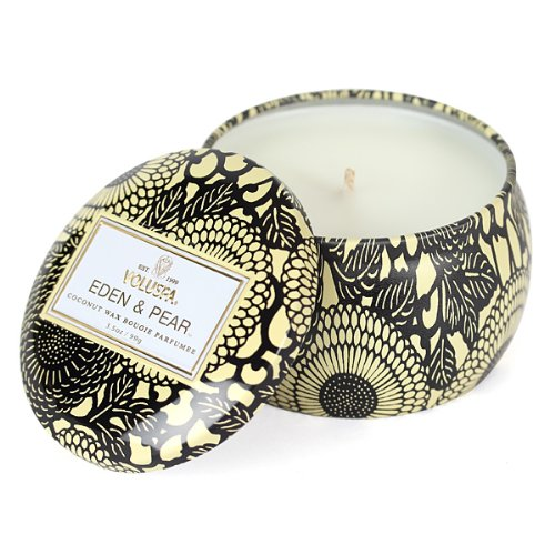 Voluspa Decorative Tin Candle, Eden & Pear, 3.5 oz