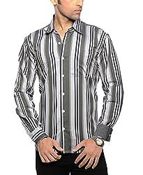 Moksh Men's Striped Casual Shirt V2IMS0414-83 (Medium)