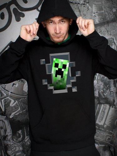 Minecraft Creeper Inside Hoodie-XL