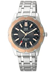 Q&Q Black Dial Men's Watch - Q582N412Y