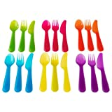 51e1ByTCxzL. SL160  Kids Colorful 18 Pc CUTLERY Set