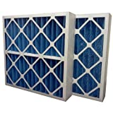 "US Home Filter SC40-16X20X4 MERV 8 Pleated Air Filter (Pack of 3), 16"" x 20"" x 4"""