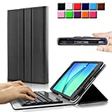 Infiland Samsung Galaxy Tab A 8.0 Keyboard Case Cover - Slim Fit SmartBook Stand Case With Magnetically Detachable...