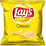 Lay's Potato Chips Regular, 1.5-Ounce Large Single Serve Bags (Pack of 64)