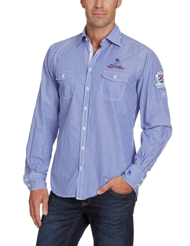 Otto Kern Men's 50016 / 13026 Casual Shirt Blue (300Navy) 39/40