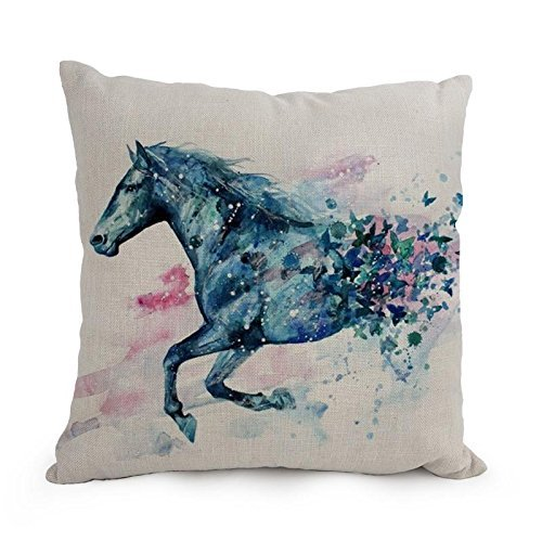 Uloveme 12 X 20 Inches / 30 By 50 Cm Horse Throw Pillow Case,twin Sides Is Fit For Boy Friend,teens Girls,indoor,festival,kitchen (Twin Horse Quilt compare prices)