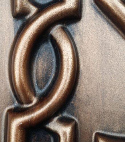 PL09en finition cuivre antique plafond Panneaux muraux décoration carrelage 3D pour estamper Café Pub Shop Art 10pieces/Lot